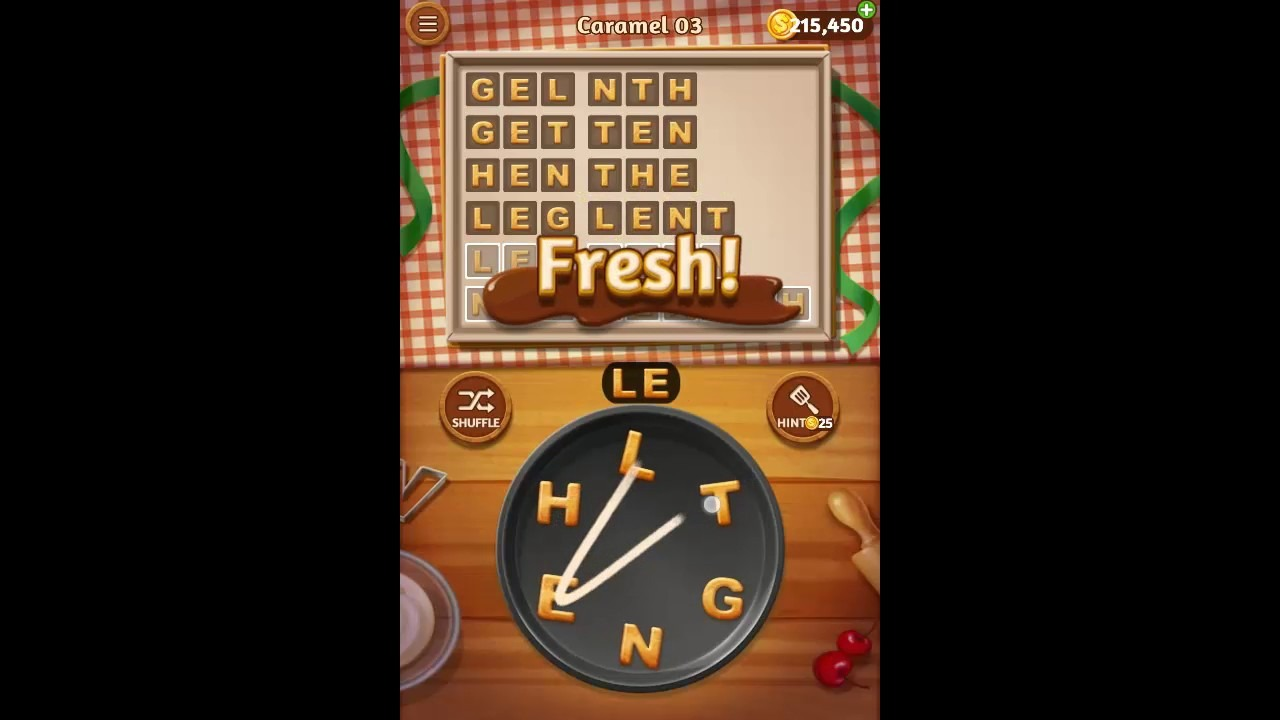 Word Cookies Caramel Pack Level 3 Answers