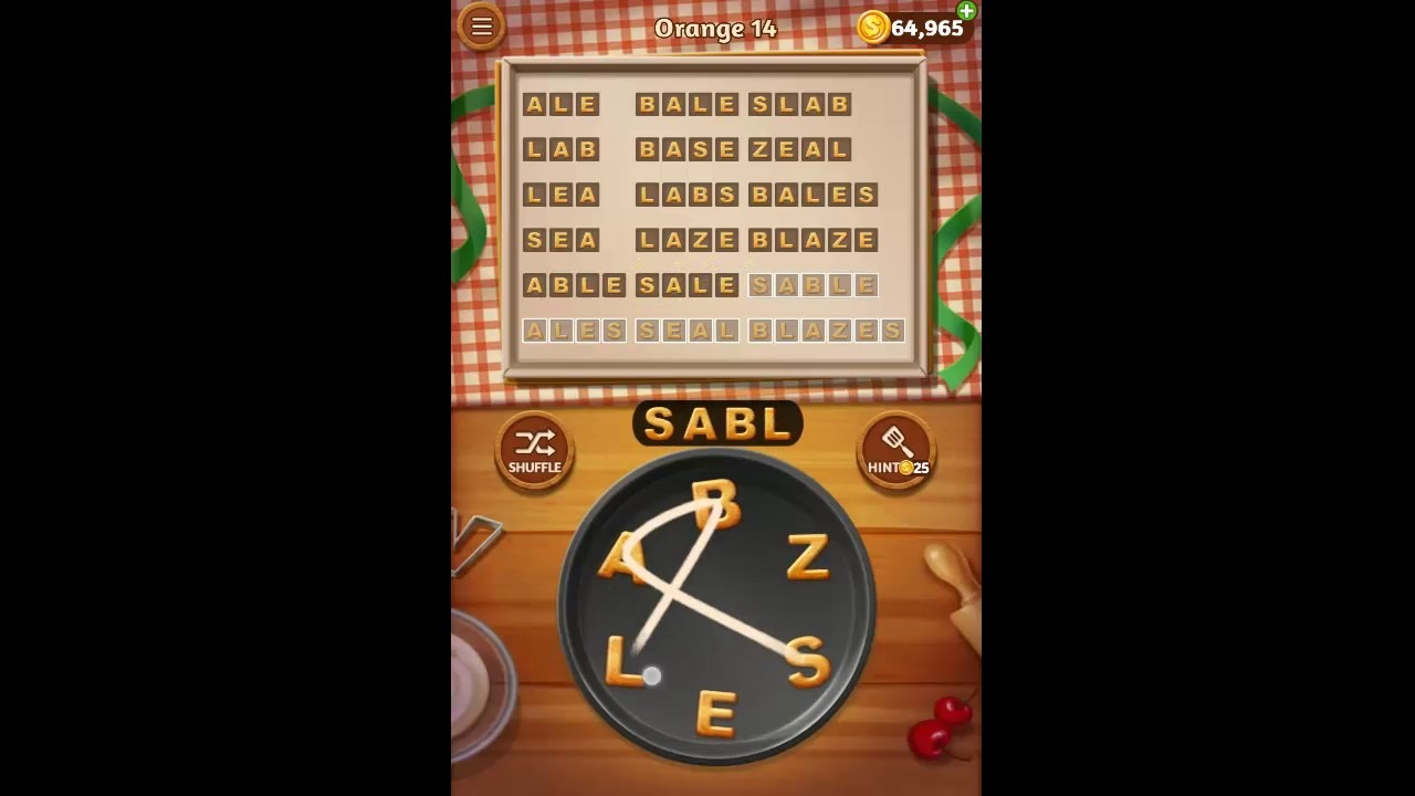 Word Cookies Orange Pack Level 14 Answers