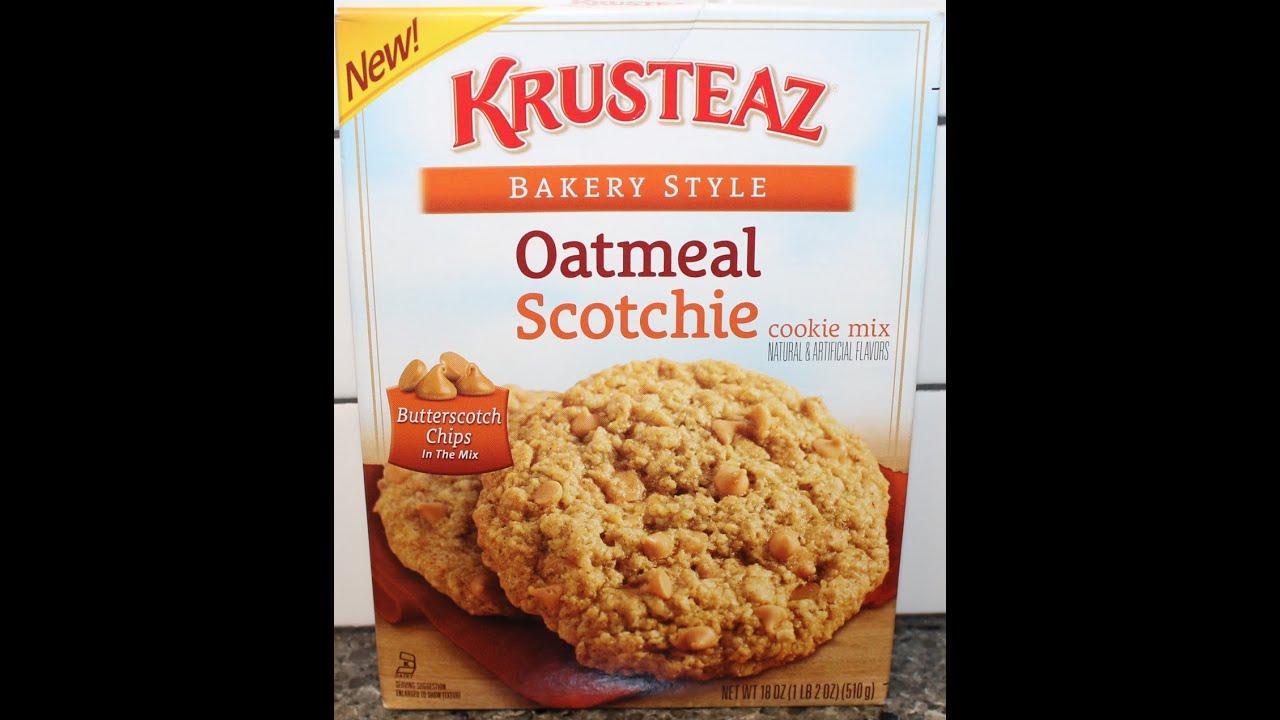 Making Krusteaz Oatmeal Scotchie Cookie Mix