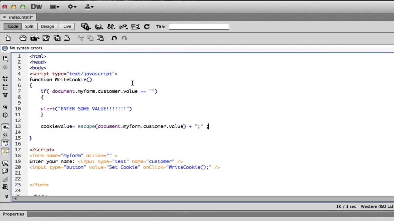Javascript Tutorial 11