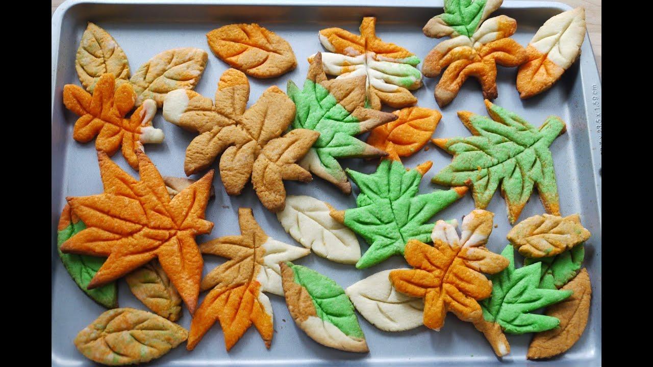 秋葉曲奇how To Make Leaf Cookies (without Cookie Cutter)