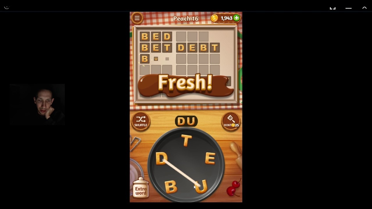Word Cookies, Talented Chef, Peach (updated) Level 16 Solved