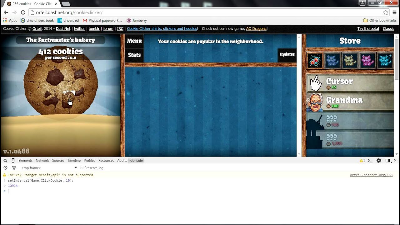 How To  Cheat Hack At Cookie Clicker (auto