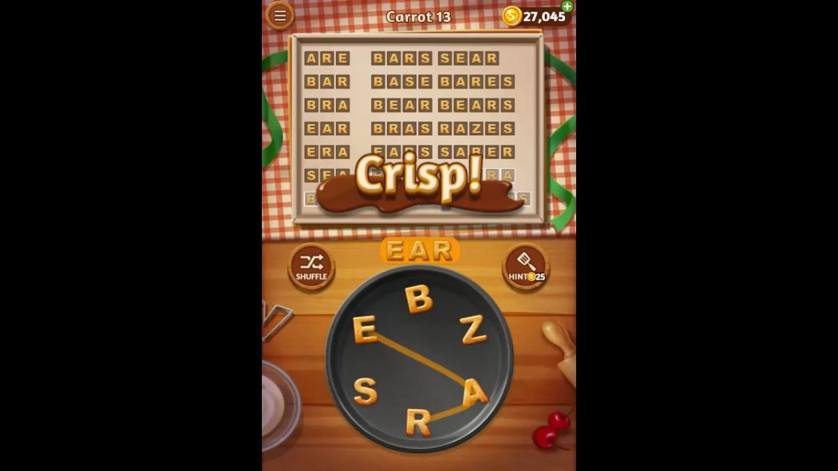Word Cookies Carrot Pack Level 13 Answers