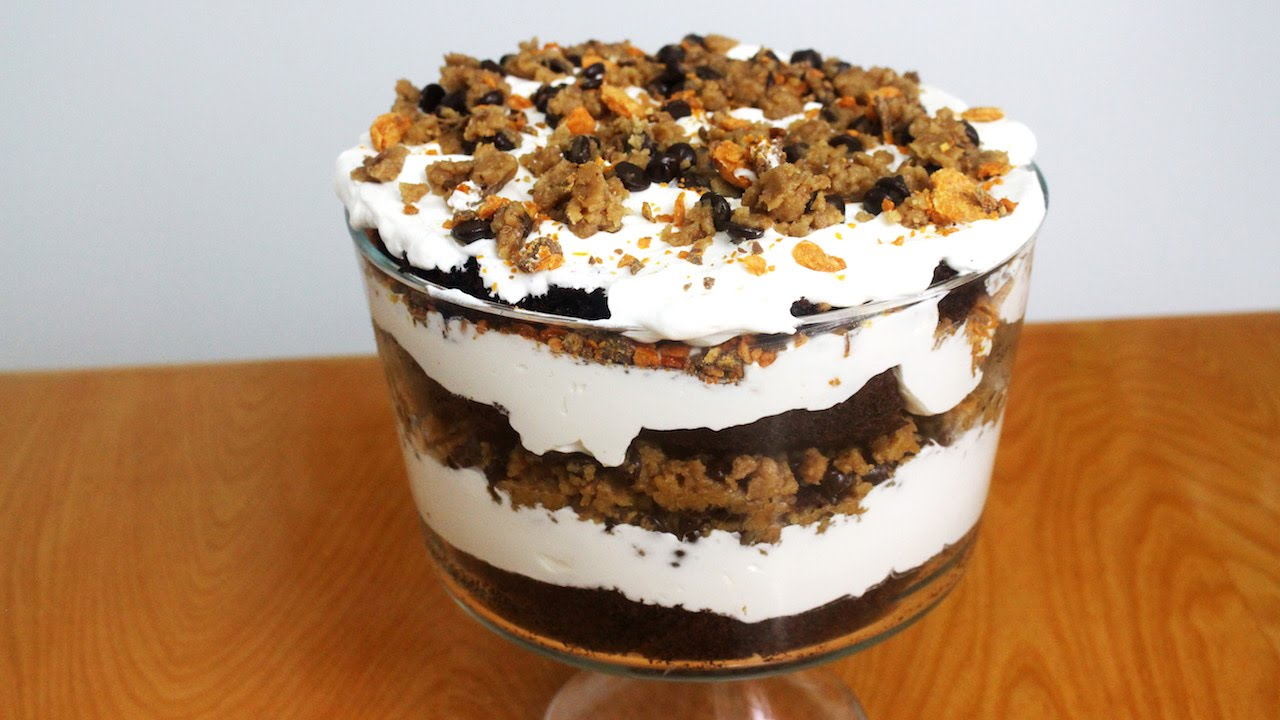 Chocolate Cake Cookie Dough Trifle