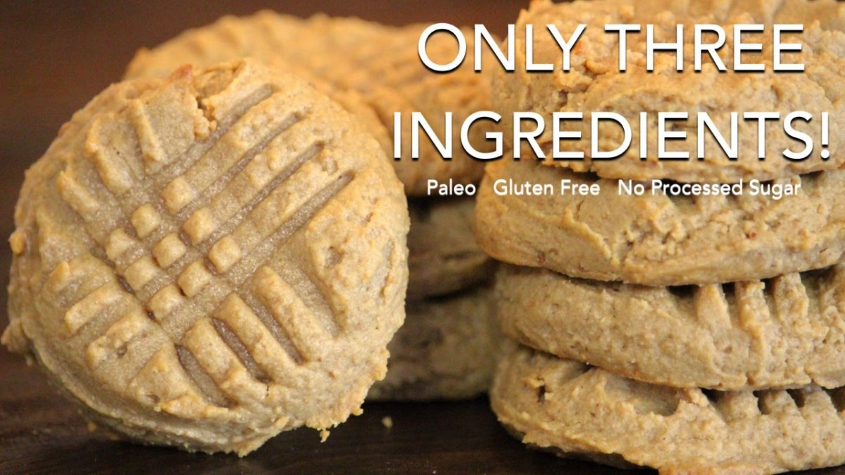 Three Ingredient Peanut Butter Cookies │paleo, Gluten Free, No