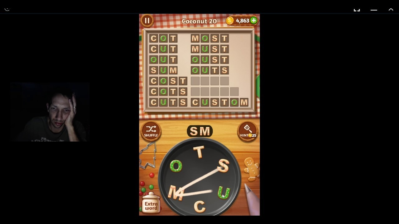 Word Cookies, Pastry Chef, Updated Coconut Level 20 Solved