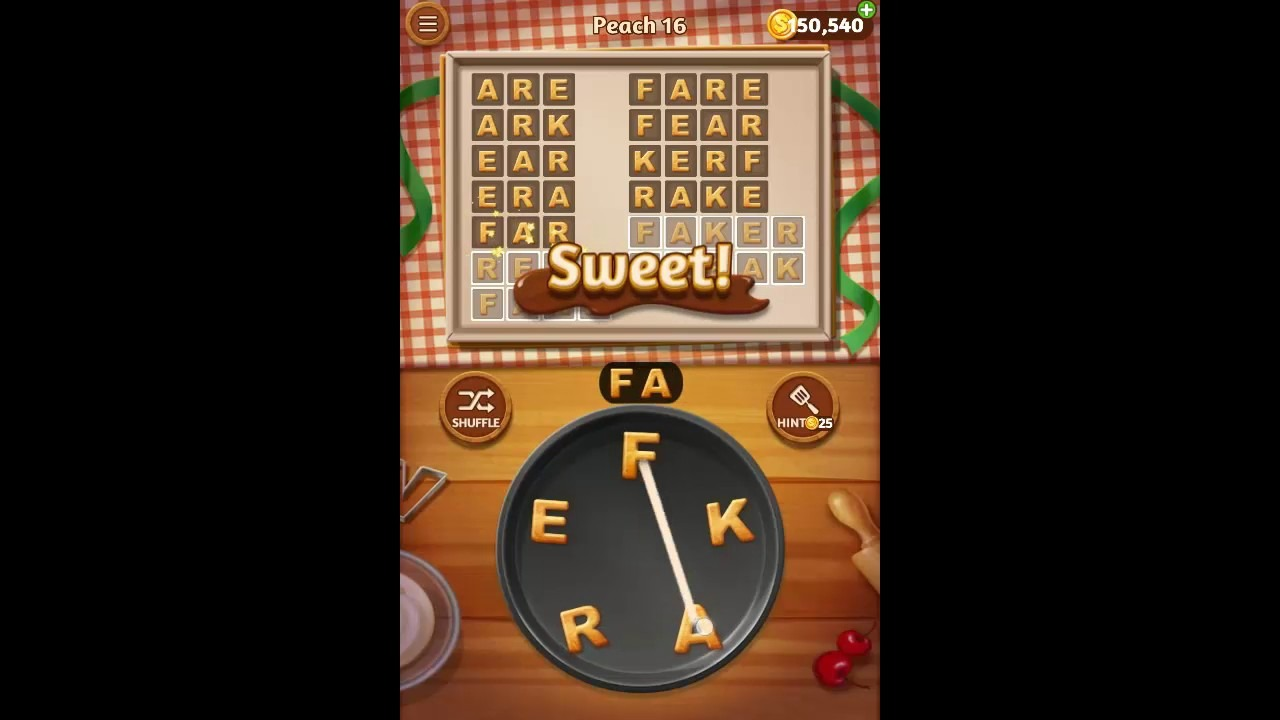 Word Cookies Peach Pack Level 16 Answers