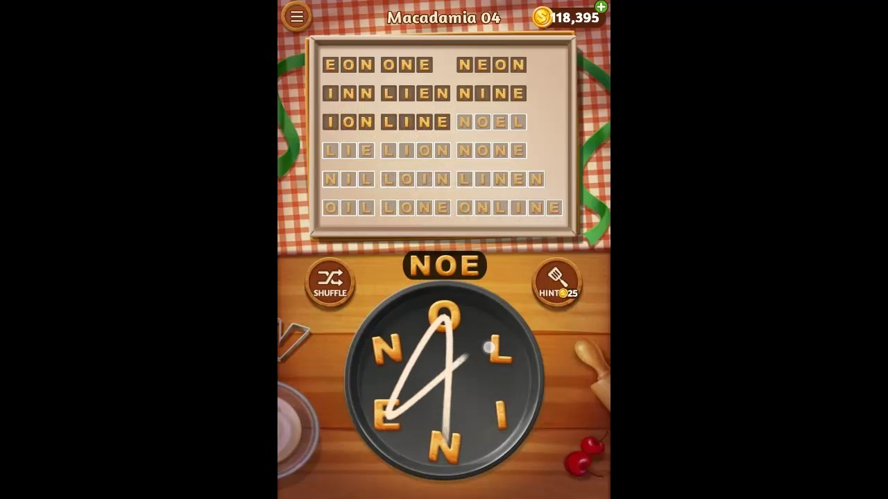 Word Cookies Macadamia Pack Level 4 Answers