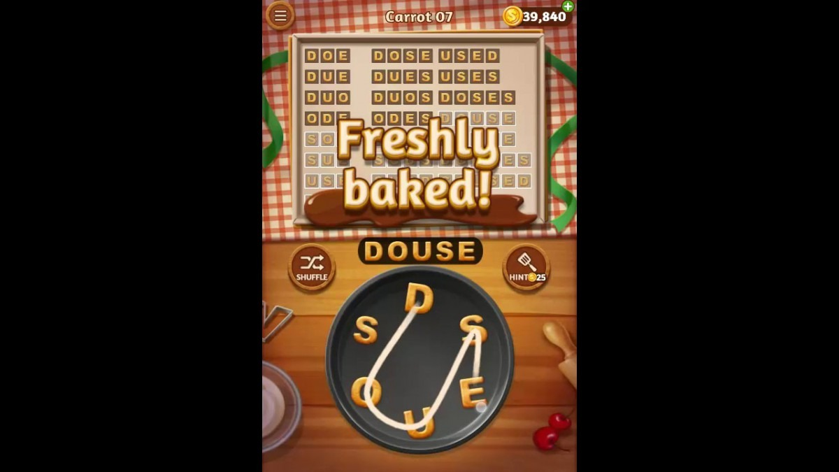 Word Cookies Carrot Pack Level 7 Answers