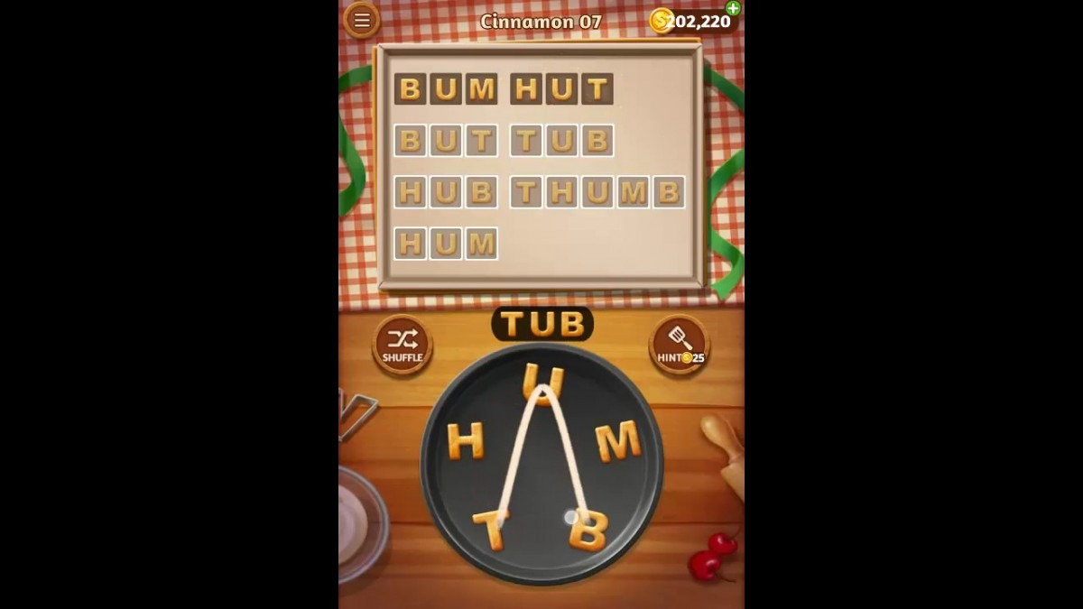 Word Cookies Cinnamon Pack Level 7 Answers