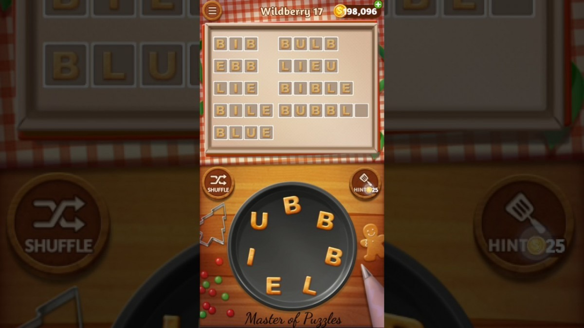 Word Cookies Wildberry Level 17 Celebrity Chef Solved