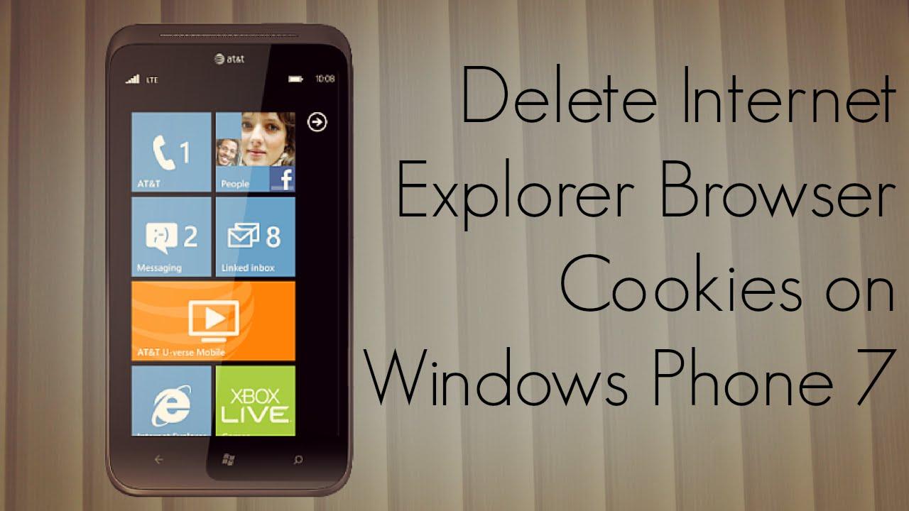 Delete Internet Explorer Browser Cookies On Windows Phone 7