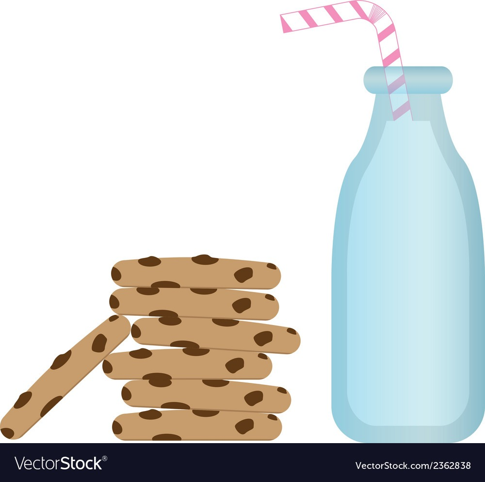 Milk And Cookies Royalty Free Vector Image