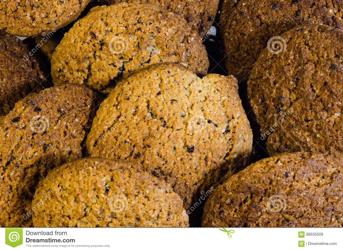 Oatmeal Cookies Stock Image  Image Of Baked, Isolated