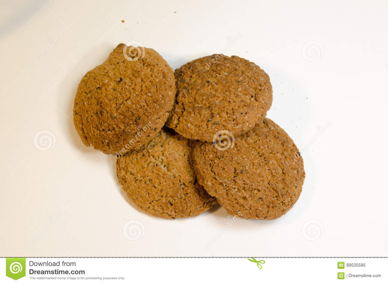 Oatmeal Cookies Stock Image  Image Of Homemade, View