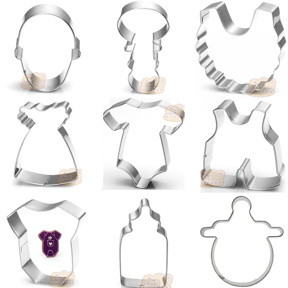 Onesie Baby Shower Toys Metal Cookie Cutter Shapes High Quality
