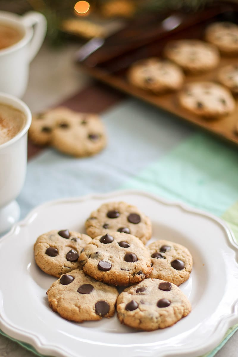 Paleo Chocolate Chip Cookies (5 Ingredients!)