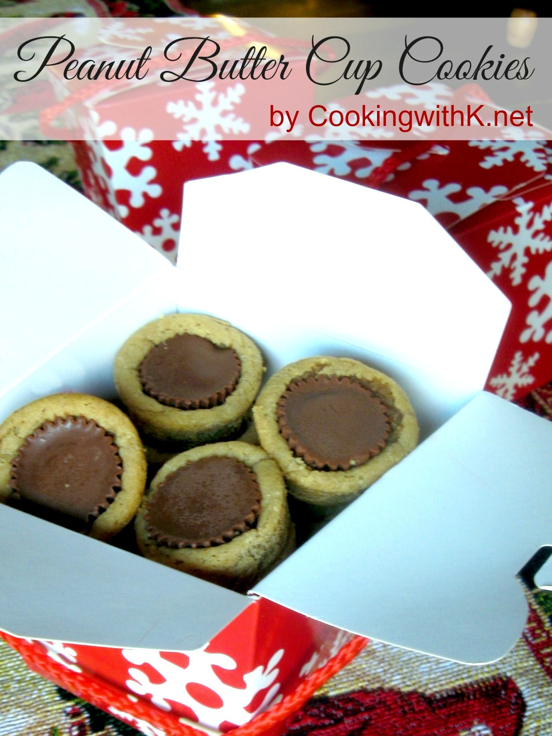 Cooking With K  Reese's Peanut Butter Cup Cookies Using Pillsbury