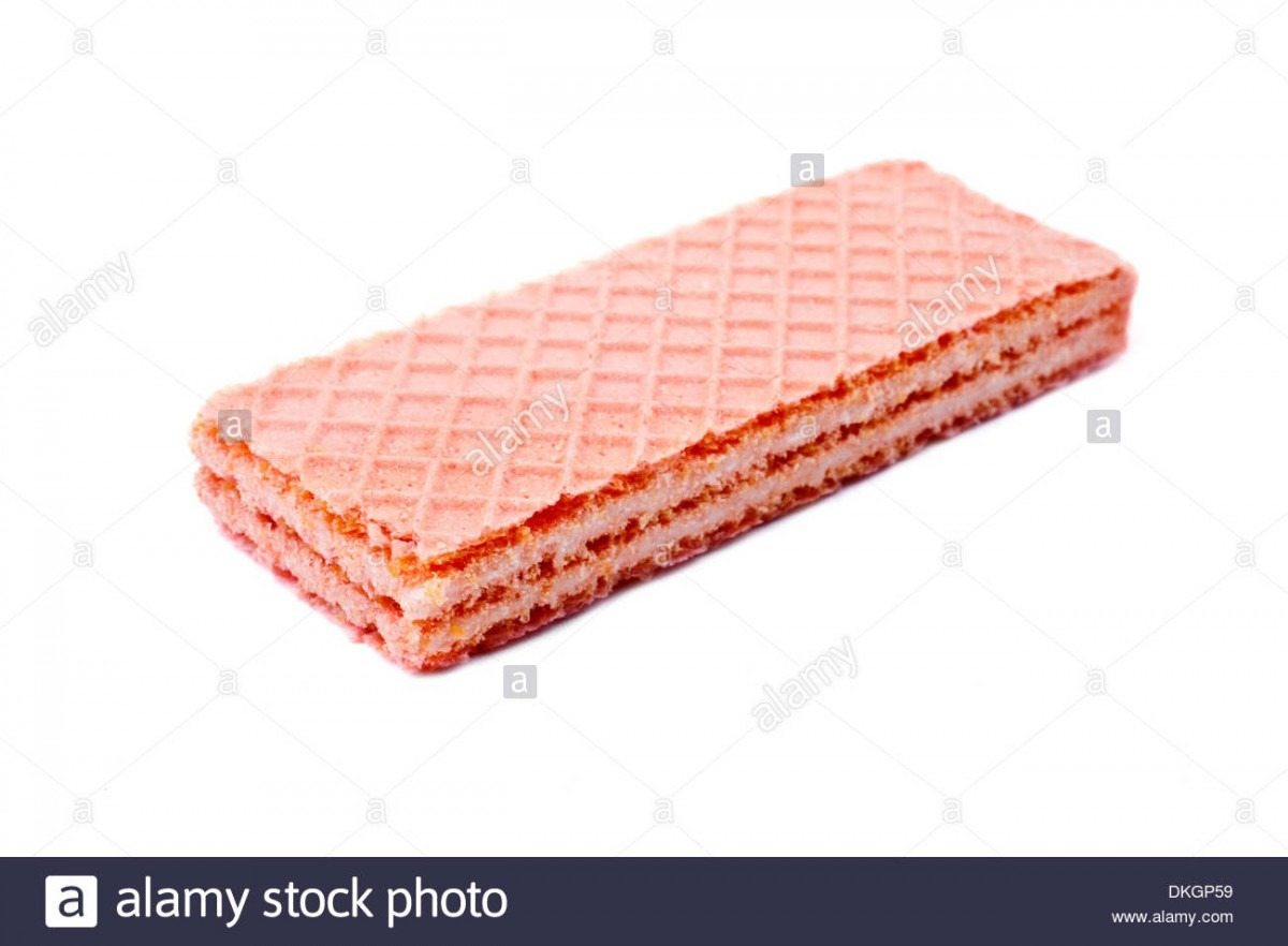 Pink Wafer Cookies Stock Photos & Pink Wafer Cookies Stock Images