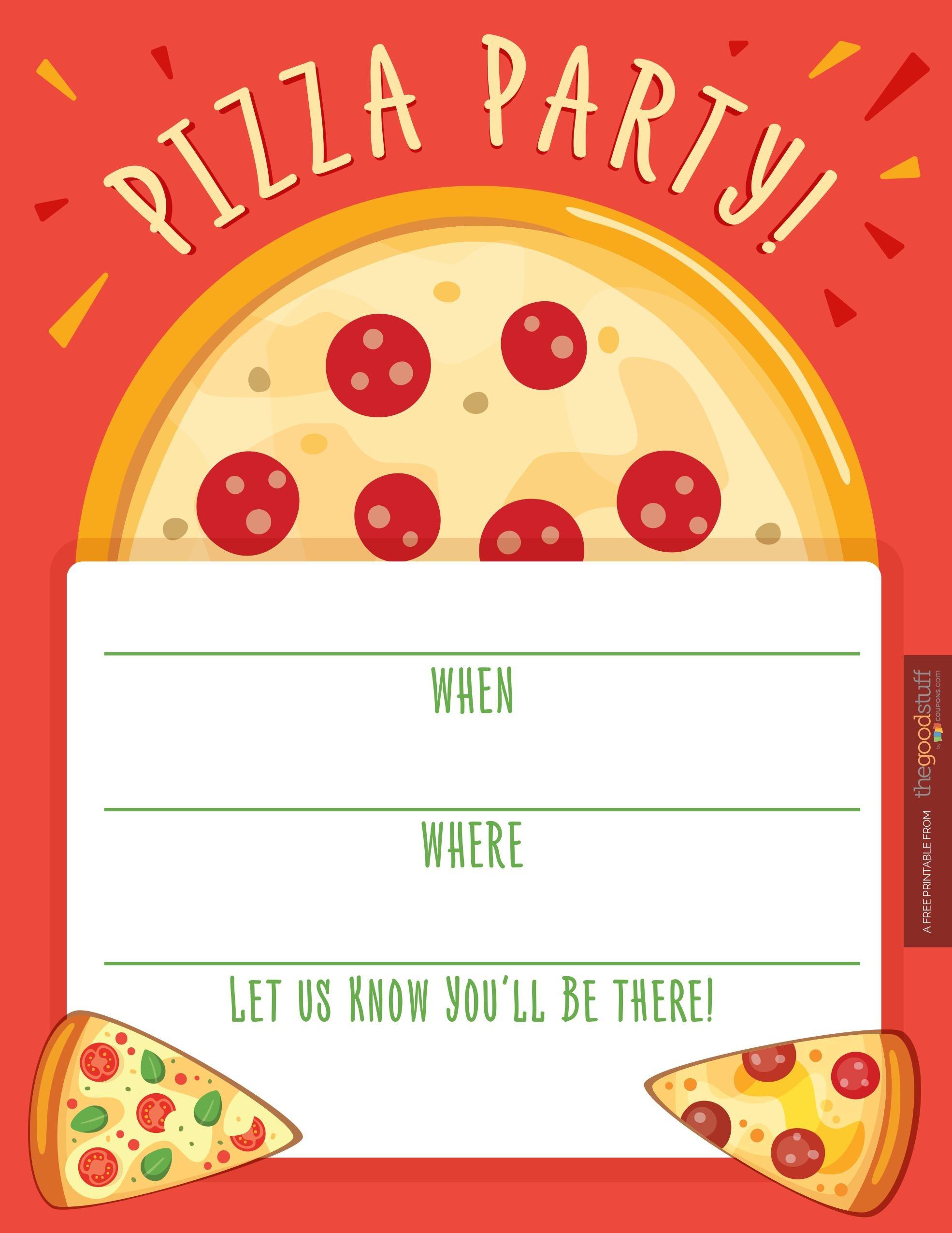Pizza Party Invitations Pizza Party Invitations And Glamorous
