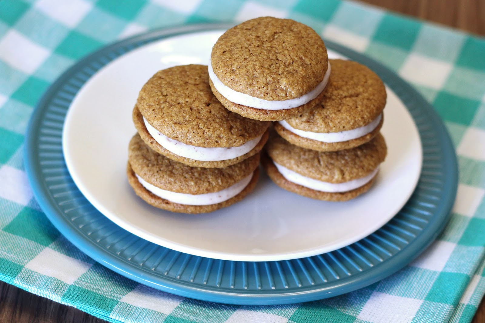 Gluten Free Vegan Pumpkin Spice Sandwich Cookies