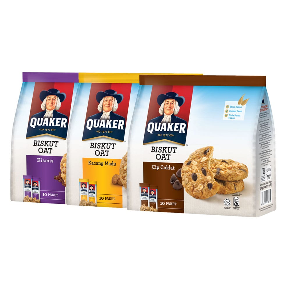 Quaker Oat Cookies 270g X 3 Packs 3 Flavors To Choose