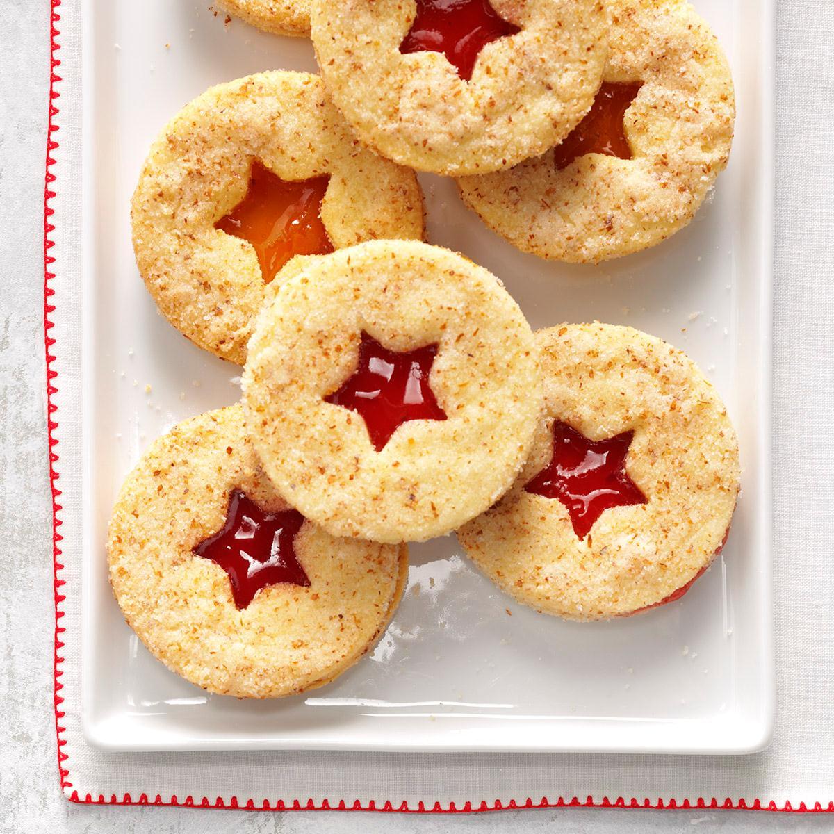 Raspberry Linzer Cookies Recipe