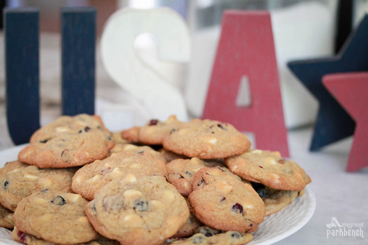 No Dye Red White And Blue Cookies
