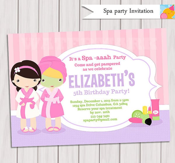 Spa Party Invitations Spa Party Invitations Comely Party