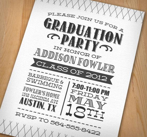 Stunnin Awesome Graduation Party Invitation Ideas
