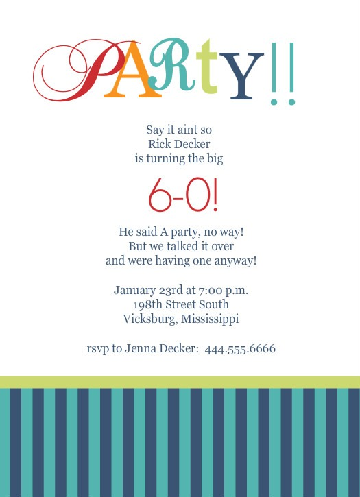 Good Free 60th Birthday Invitations Templates