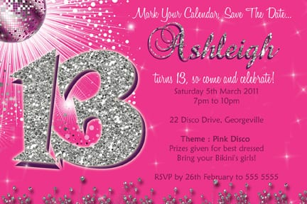 Invitations For 13th Birthday Party