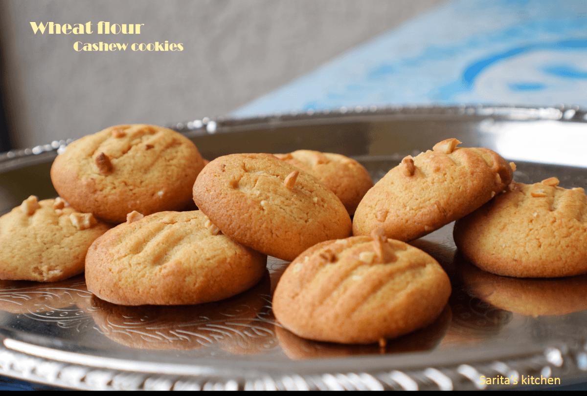 Sarita's Kitchen Blog  Wheat Flour Cashew Cookies