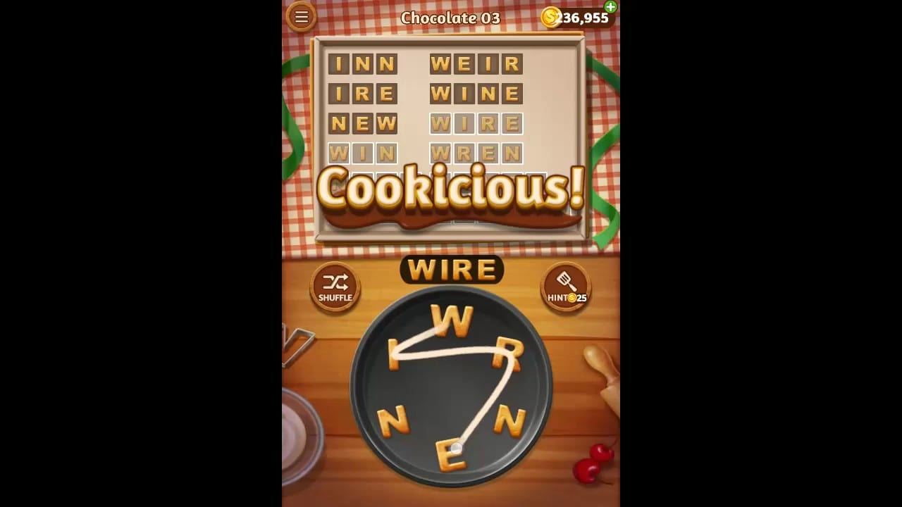 Word Cookies Chocolate Pack Level 3 Answers