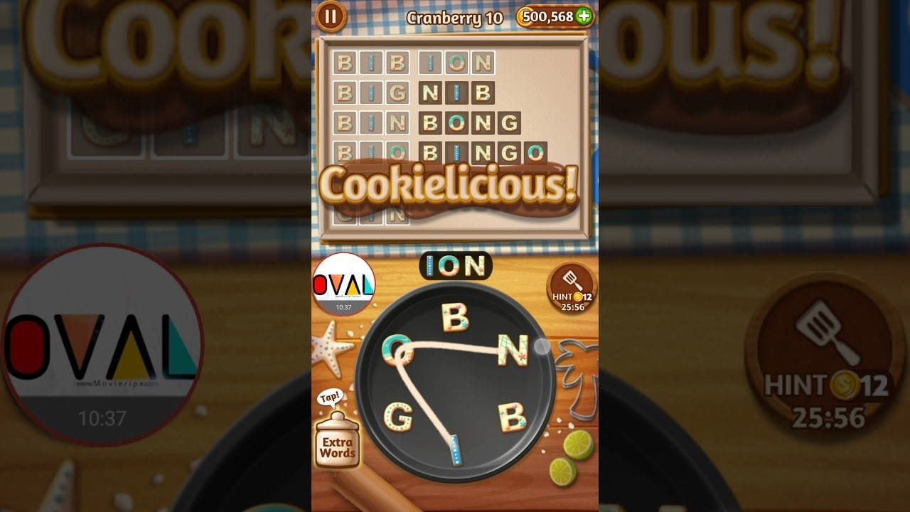 Word Cookies Cranberry Level 1 2 3 4 5 6 7 8 9 10 11 12 13 14 15