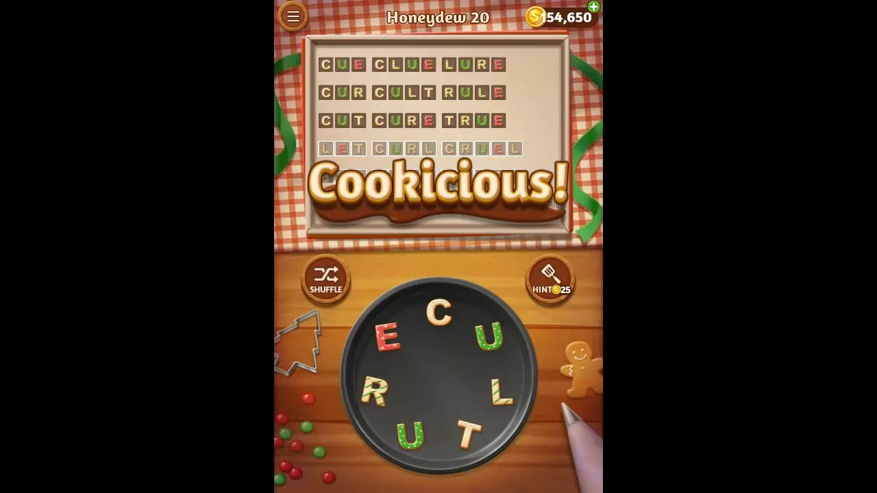 Word Cookies Honeydew Pack Level 20 Answers