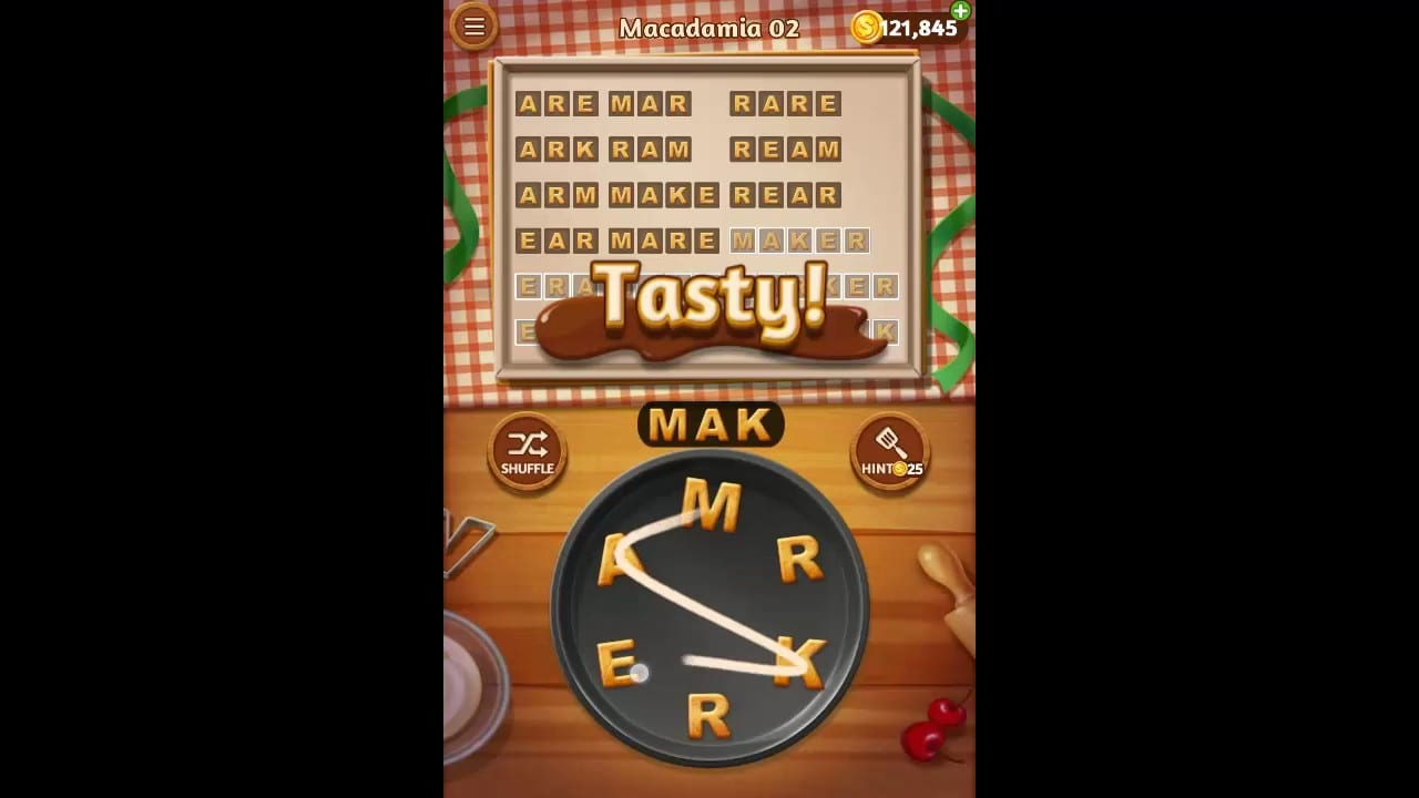 Word Cookies Macadamia Pack Level 2 Answers