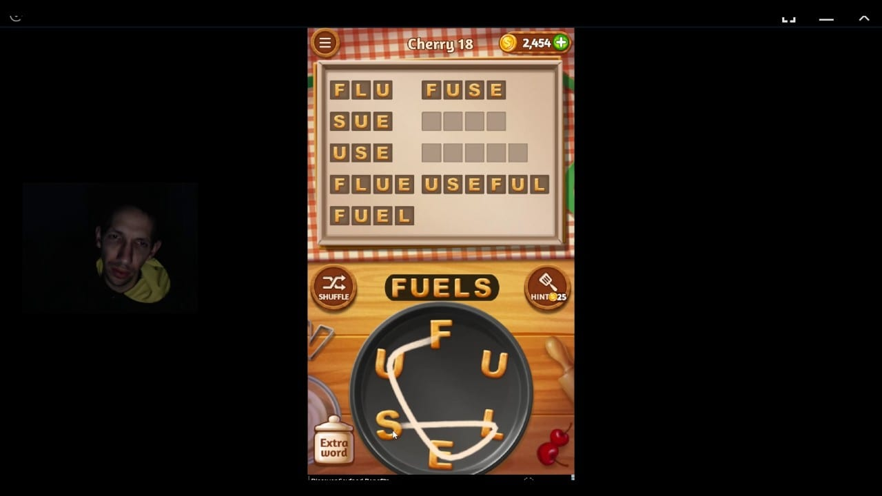 Word Cookies, Talented Chef, Cherry Level 18