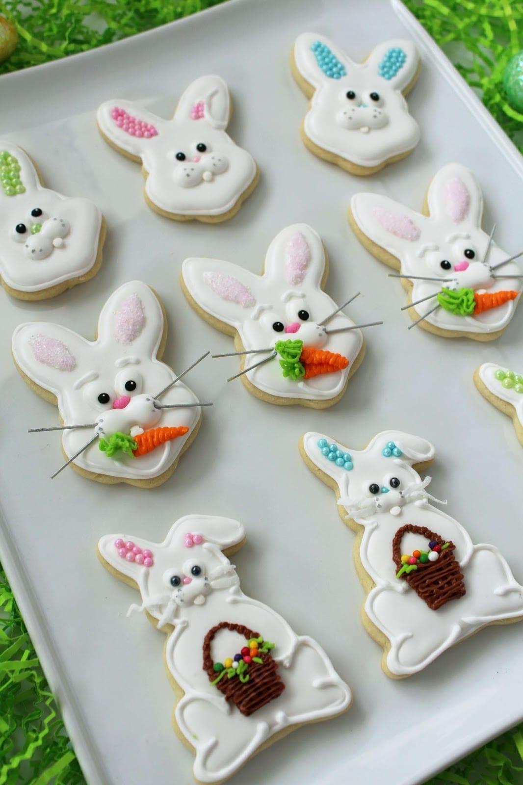 Worth Pinning  Easter Bunny Sugar Cookies