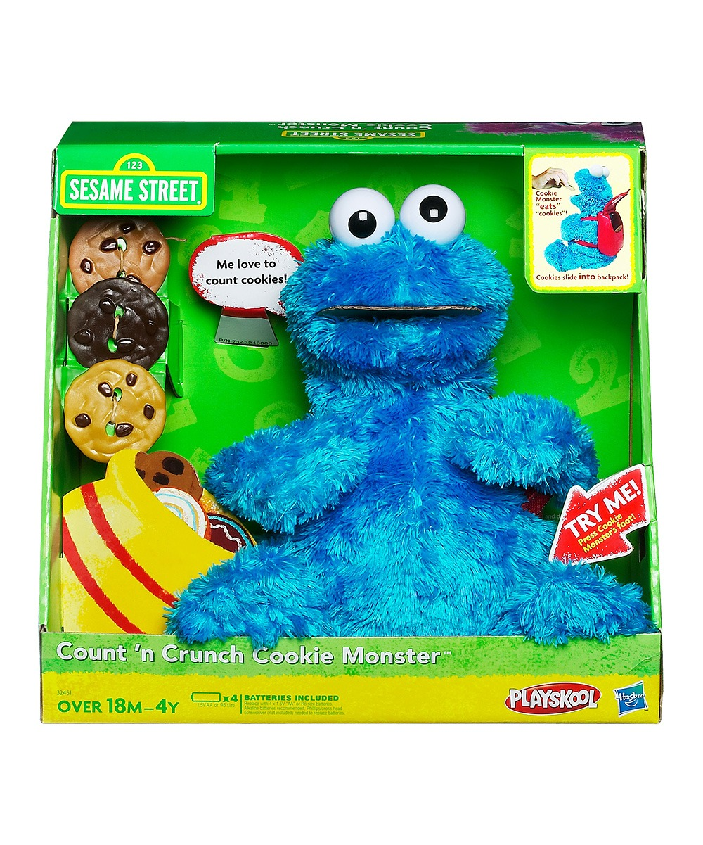 Sesame Street Count N Crunch Cookie Monster Plush Toy