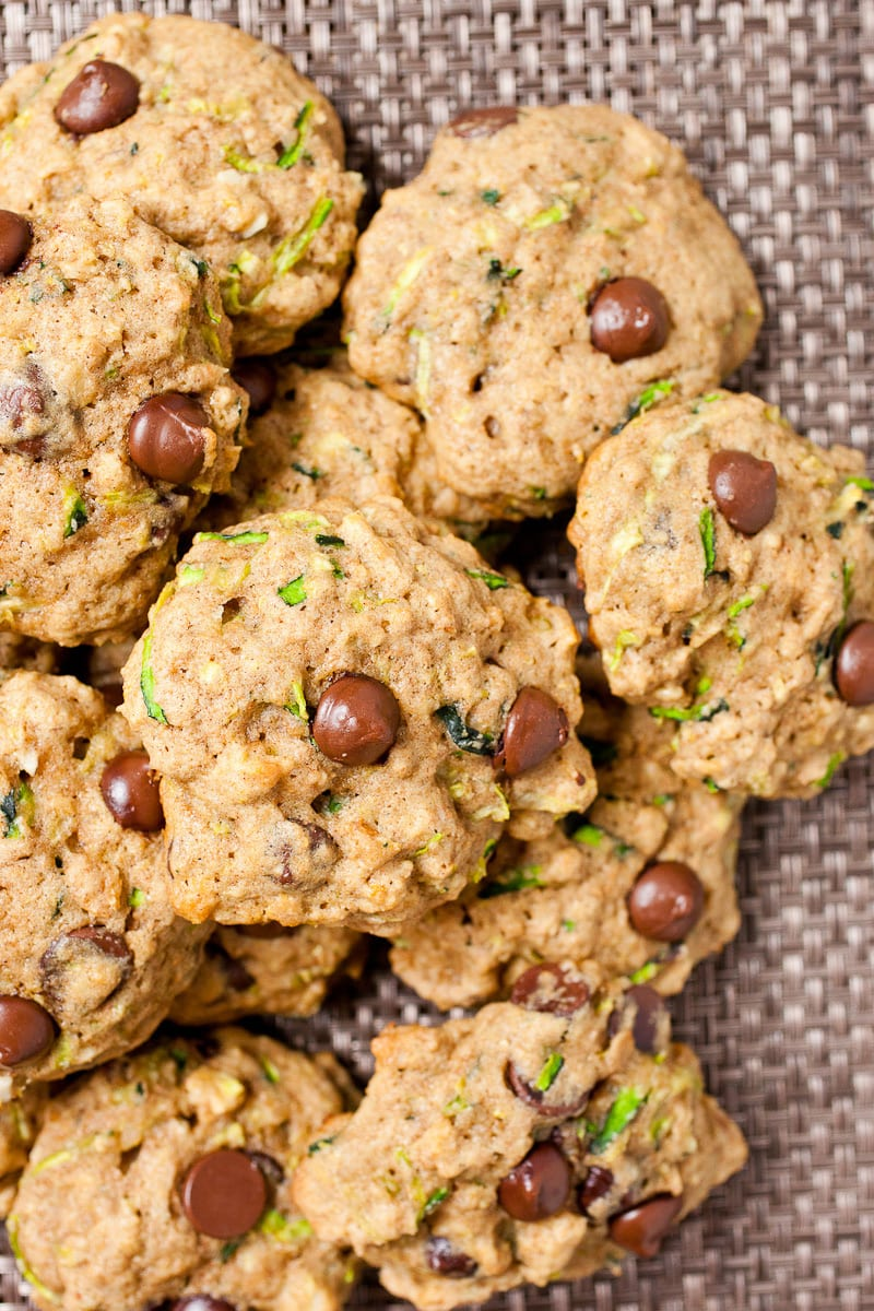 Zucchini Chocolate Chip Cookies ~ Macheesmo