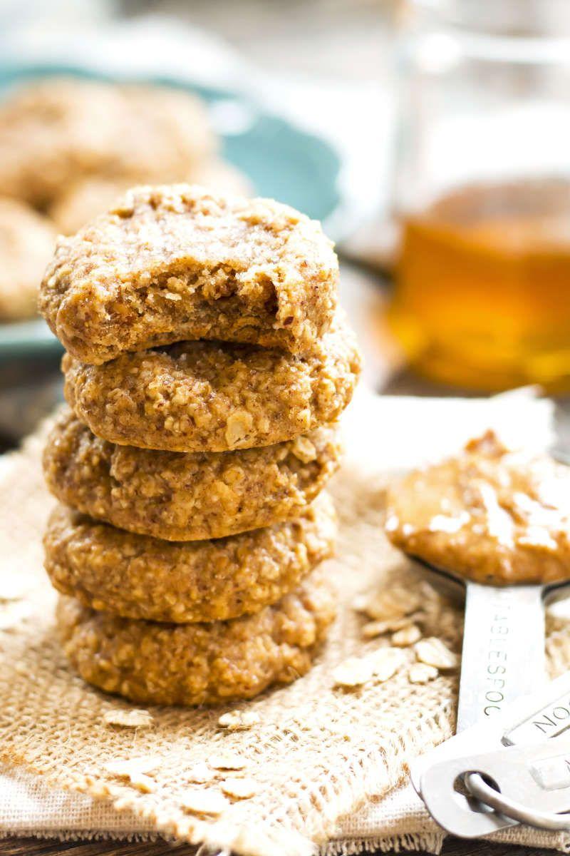 Almond Butter Oatmeal Cookies