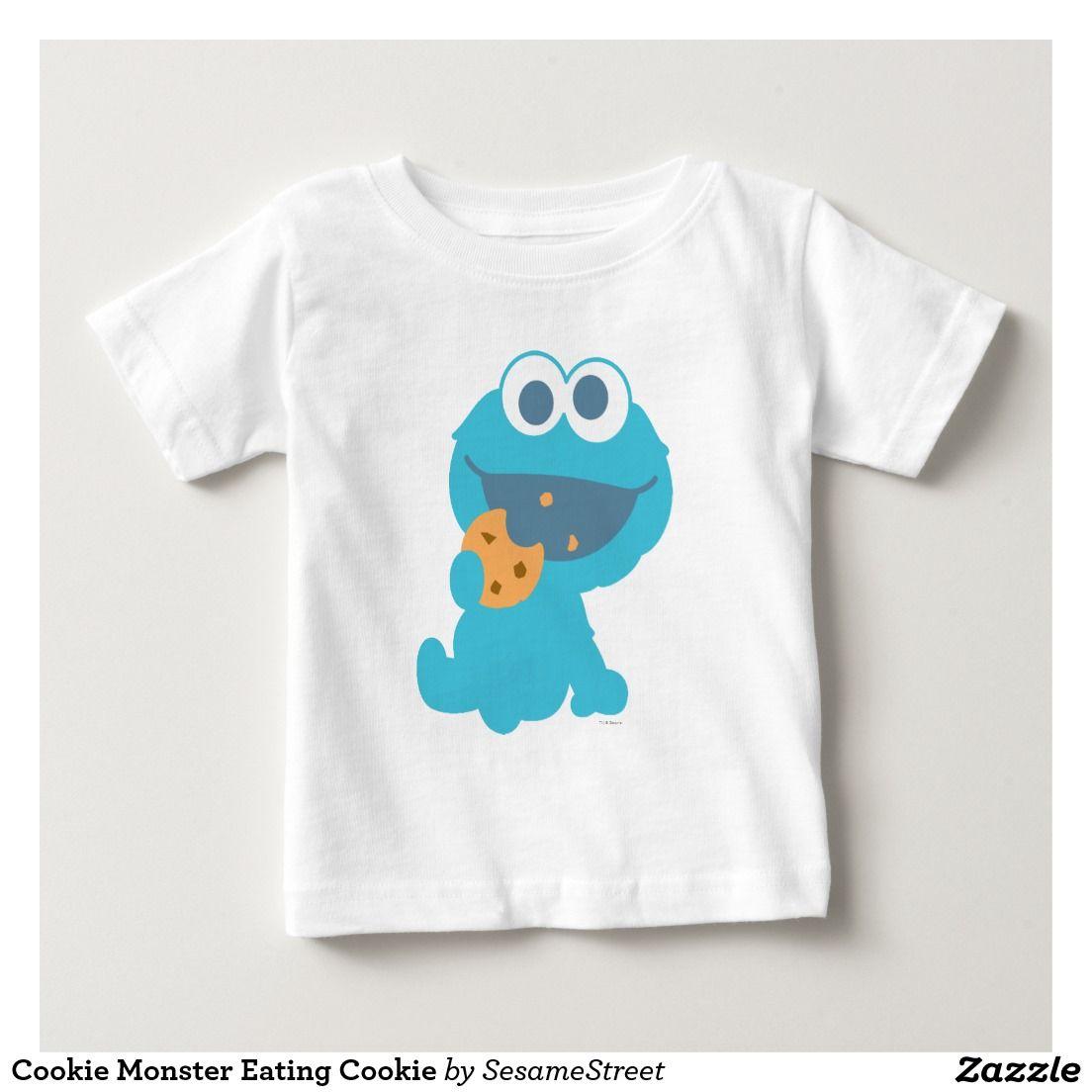 Cookie Monster Eating Cookie Baby T