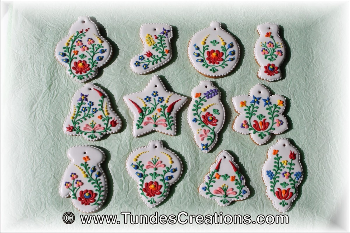 The Gingerbread Artist  Christmas Cookies With Hungarian Folk Art