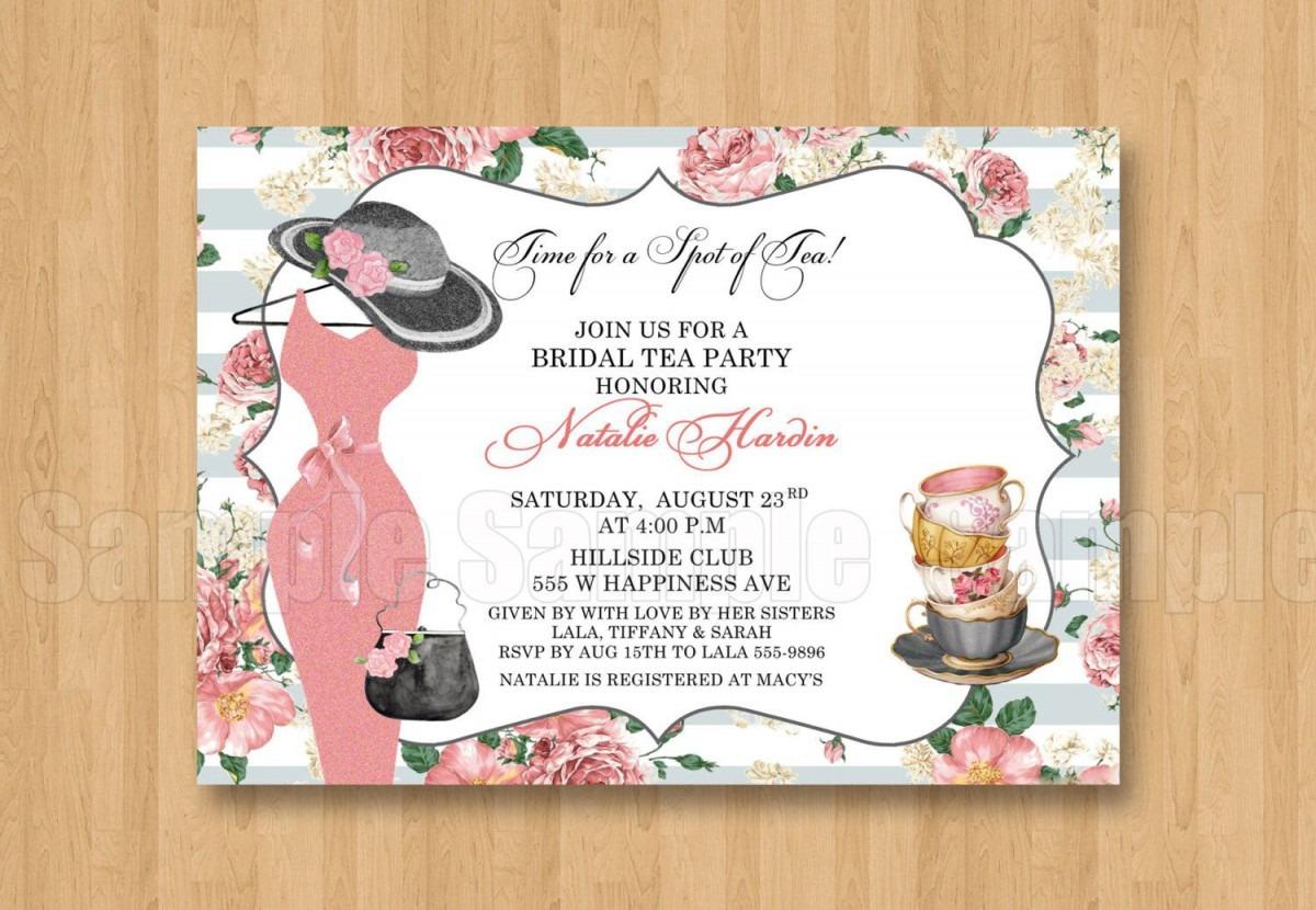 Spot Of Tea Fancy Hat Dress Birthday Bridal Shower Personalized