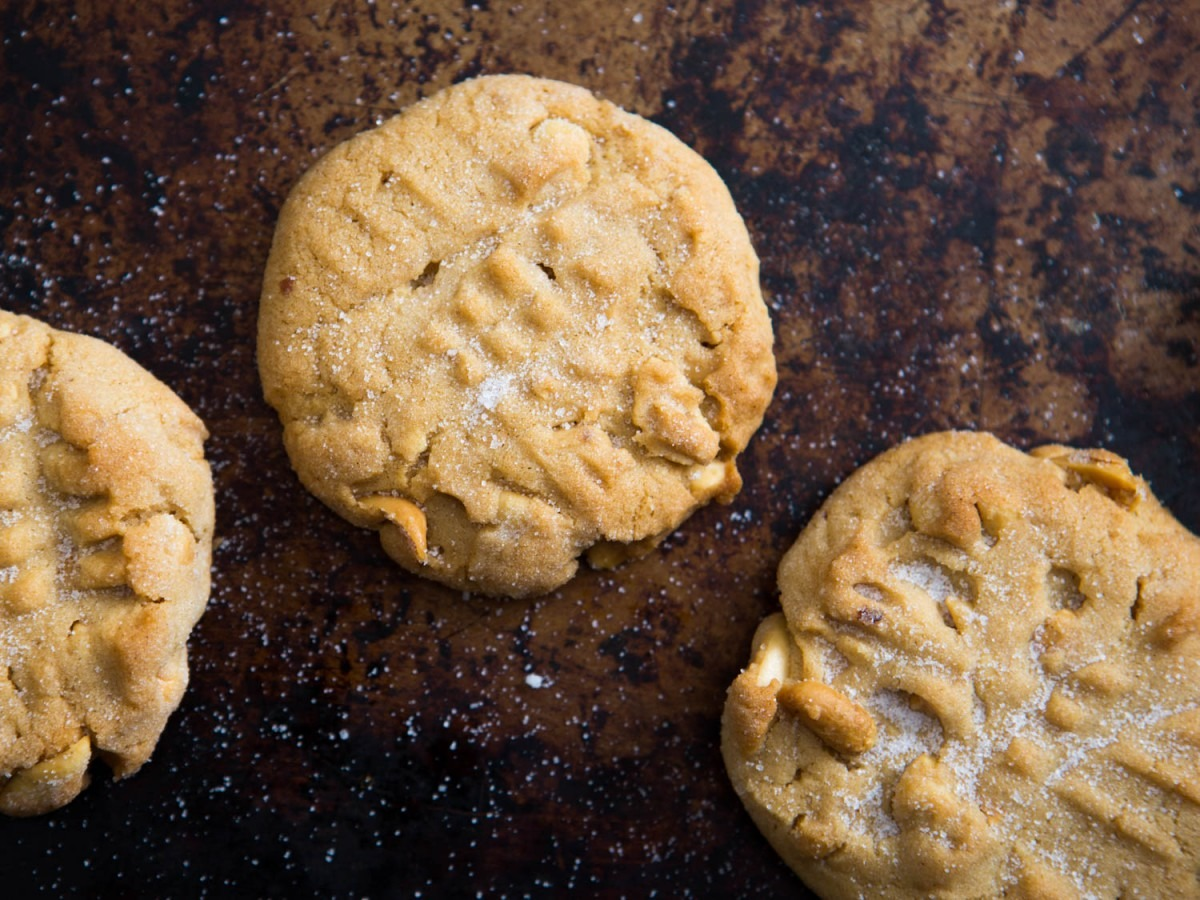 Soft And Crunchy Peanut Butter Cookies Recipe