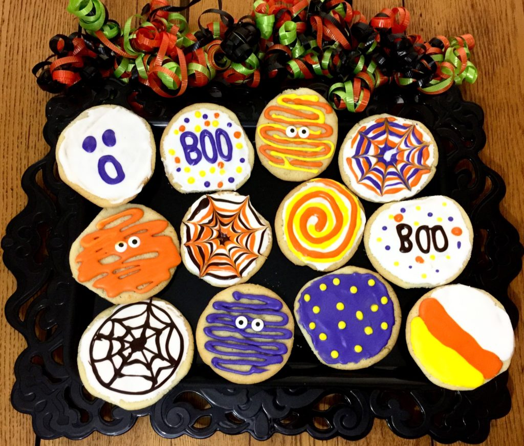 Decorating Halloween Sugar Cookies