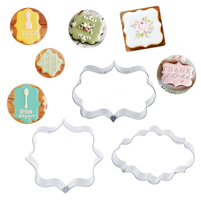 3pcs Set Stainless Steel Cake Cookie Cutter Kitchen Cake Mould