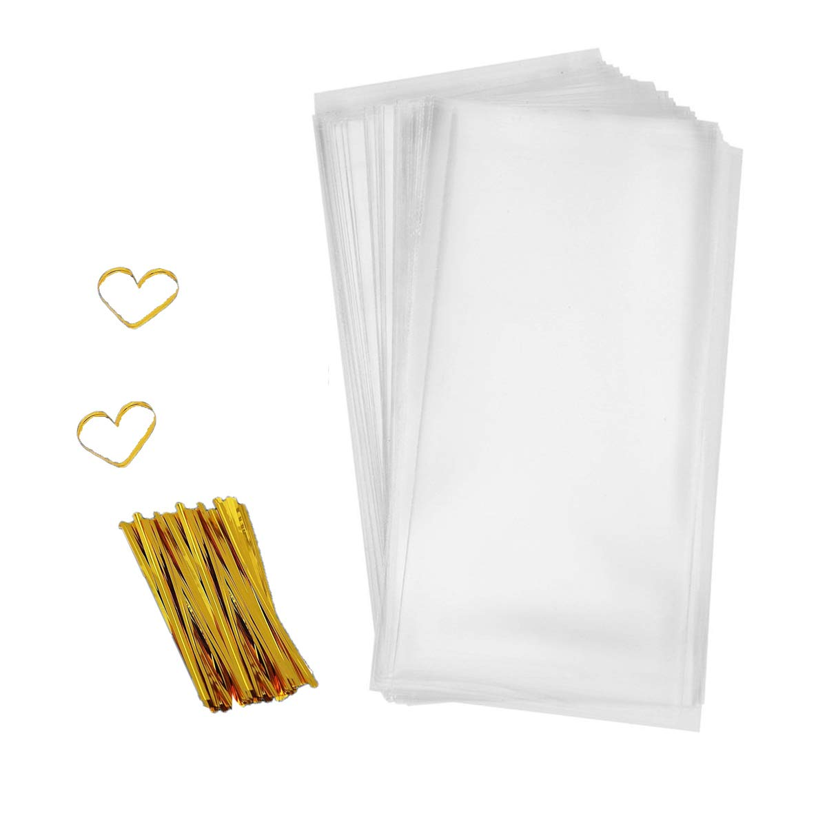 Amazon Com  Nobbee Cellophane Bags 200 Pcs Clear Cello Treat Bags